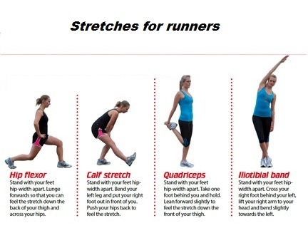 runners 4 main stretches